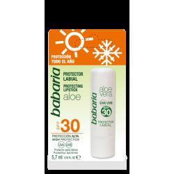 Слънцезащитен балсам за устни SPF30 с Алое вера - Babaria