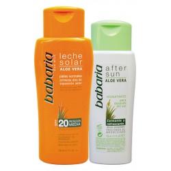 Слънцезащитен комплект за чувствителна кожа лосион SPF20 и балсам за след слънце – Babaria