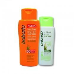 Слънцезащитен комплект за чувствителна кожа лосион SPF50 и балсам за след слънце – Babaria