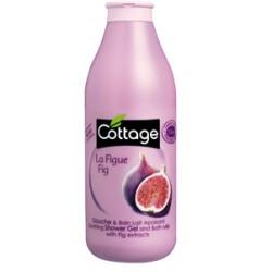 Душ гел и пяна за вана 2 в 1 с омекотяващ ефект Смокиня 750ml- Cottage