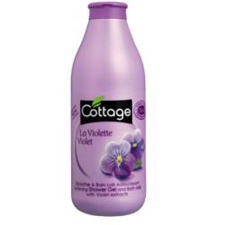 Душ гел и пяна за вана 2 в 1 с възстановяващ ефект Виолетка 750ml- Cottage