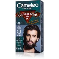 Безамонячна крем боя за коса за мъже - Тъмно кестеняво - Cameleo - Delia