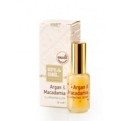 Натурален озаряващ еликсир за лице с Арган и Макадамия – Natural Cosmetic