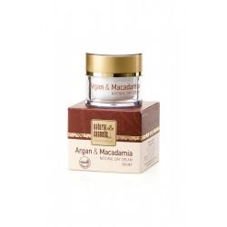 Хидратиращ натурален дневен крем за лице за суха кожа с Арган и Макадамия – Natural Cosmetic