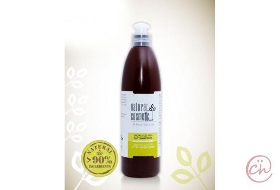 Био душ-гел за тяло за мазна кожа с масло от сандалово дърво Relax 24 – Natural Cosmetic