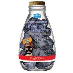 Дълбоко почистваща отлепяща маска за лице с Активен въглен - Purederm