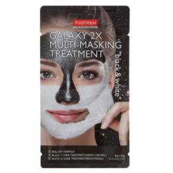 Двойна мултифункционална отлепяща маска за лице в черно и бяло - Purederm