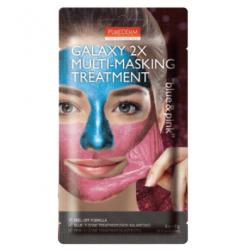 Двойна мултифункционална отлепяща маска в синьо и розово - Purederm