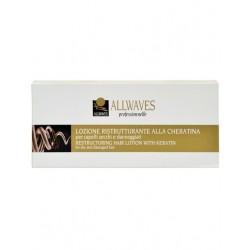 Професионални ампули за изтощена коса с Кератин – Allwaves